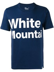 White Mountaineering Logo Print T Shirt Blue