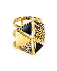 Charm And Chain Pave Ring Dark Multi