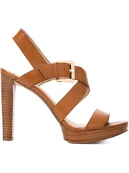 Michael Michael Kors Strappy Sandals Brown
