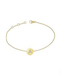 Kc Designs 14K Yellow Gold Diamond Disc Initial Bracelet A