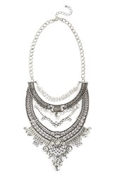 Junior Women's Leith Oversize Crystal Drop Statement Necklace