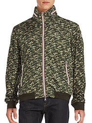 Moncler Rufin Camo Winter Jacket Olive