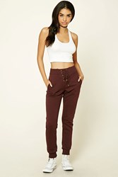 Forever 21 Heathered Lace Up Sweatpants