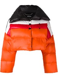 Diesel Cropped Down Jacket Yellow Orange
