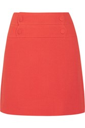 Paul And Joe Lyoka Wool Blend Crepe Mini Skirt Papaya