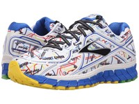 Brooks Adrenaline Gts 16 Electric Blue High Risk Red Black Cyber Yellow Men's Running Shoes