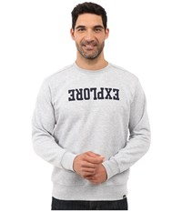 The North Face Explore Fleece Crew Tnf Light Grey Heather Men's Fleece Gray