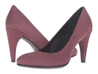 Ecco Shape 75 Sleek Pump Bordeaux Calf Nubuck High Heels Burgundy