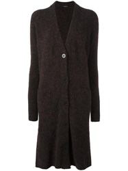 Roberto Collina Long Cardigan Brown