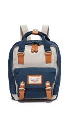 Doughnut Mini Macaroon Backpack Ivory Navy