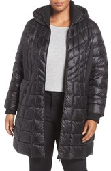 Bernardo Plus Size Women's Quilted Jacket With Down And Primaloft Fill