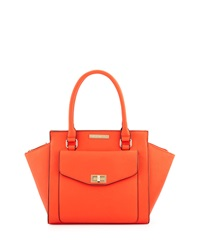 Catherine Catherine Malandrino Paige Faux Leather Satchel Bag Tangerine