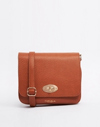 Carvela Cross Body Bag With 3 Compartments Tan