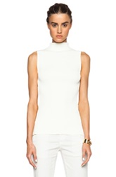 Alexander Mcqueen Sleeveless Knit Top In White