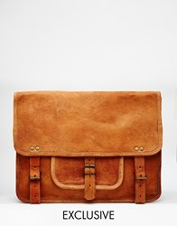 Reclaimed Vintage Leather Satchel Backpack Tan