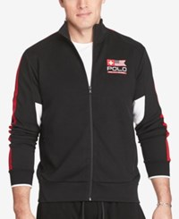 Polo Ralph Lauren Men's Big And Tall Double Knit Track Jacket Black