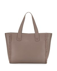 Posse Sophie Large Leather Tote Bag Dark Taupe