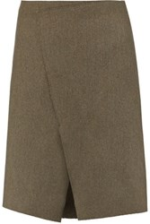 Joseph Saar Wool Blend Skirt Army Green