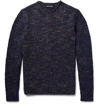 Alex Mill Macho Melange Wool Blend Sweater Storm Blue