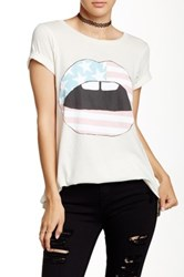 Wildfox Couture American Lips Tee White