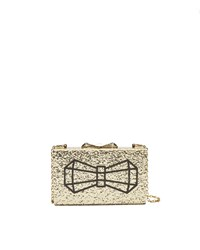Ted Baker Bowwe Bow Glitter Clutch Bag Yellow