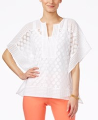 Alfani Dot Lace Poncho Top Only At Macy's Bright White