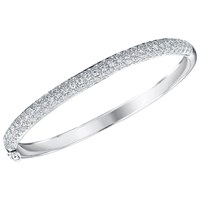 Jools By Jenny Brown Cubic Zirconia Hinged Pave Set Bangle Silver