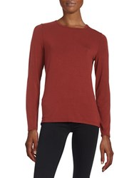 Lord And Taylor Crewneck Tee Rust