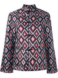For Restless Sleepers Geometric Print Quilted Jacket Multicolour