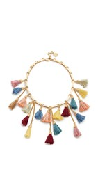 Ben Amun Tassel Bib Necklace Multi