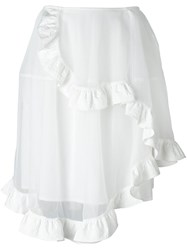 Simone Rocha Asymmetric Tulle Full Skirt White