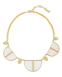 Charm And Chain Mother Of Pearl Statement Necklace 17 White