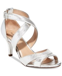 Styleandco. Style And Co. Pravati Strappy Evening Sandals Women's Shoes Silver