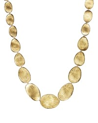 Marco Bicego 18K Yellow Gold Engraved Lunaria Necklace 16