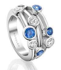 Boodles Classic Raindance Platinum Sapphire Ring Female