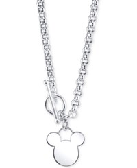 Disney Mickey Mouse Pendant Necklace In Sterling Silver