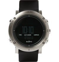 Suunto Core Brushed Stainless Steel And Rubber Sports Watch Silver