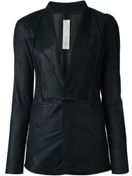 Isabel Benenato Toggle Fastening Blazer Black