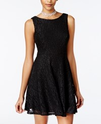 Speechless Juniors' Glittered Lace Dress Only At Macy's Black