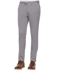J Brand Jeans Brooks Slim Fit Chino Trousers Gray