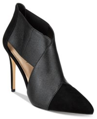 Nine West Eadda Pointed Toe Booties Women's Shoes Black Black Synthetic
