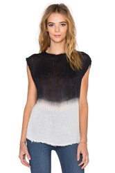 Dolan Mock Neck Tank Black And White