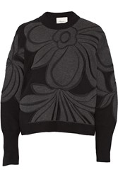 3.1 Phillip Lim Embroidered Cotton And Cashmere Blend Sweatshirt Black