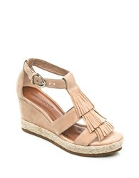 Bernardo Kaya Suede Wedge Sandals