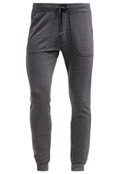 Tom Tailor Tracksuit Bottoms Dark Grey Melange Mottled Dark Grey