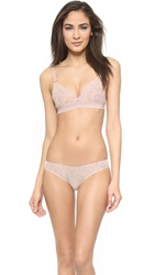 Stella Mccartney Florence Fluttering Soft Cup Bra Frosted Nude Daisy Print