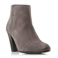 Dune Pharah Back Zip Heeled Ankle Boot Grey
