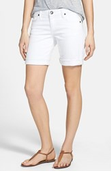 Women's Kut From The Kloth 'Catherine' Denim Boyfriend Shorts White
