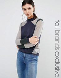 Y.A.S Tall Jumper With Contrast Panels Multi