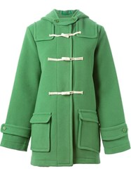 Ymc Hooded Duffle Coat Green